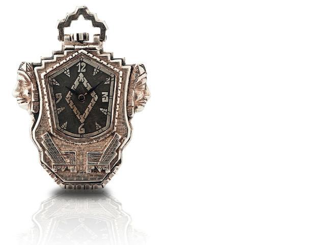 A rare silver cased open face pocket watch  Movement No. 6149380 signed Omega, Circa 1950s