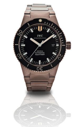 IWC. A fine titanium automatic diver's wristwatch Aquatimer GST, Ref: 3536, Case no. 2731126, Circa 2000
