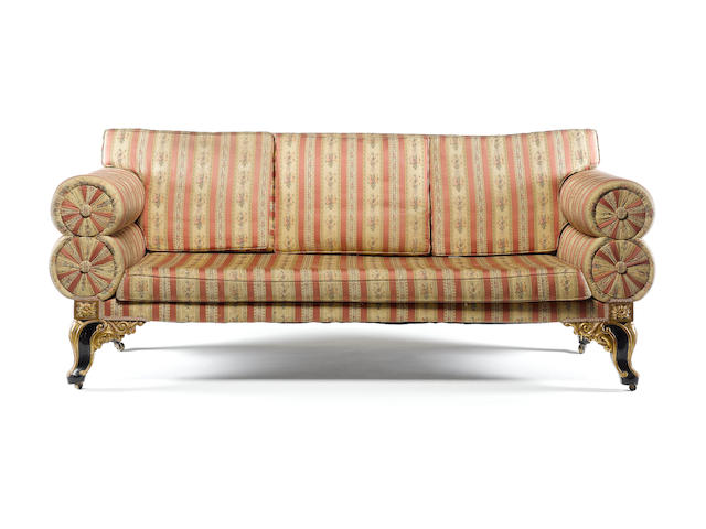 William IV lare sofa on carved feet