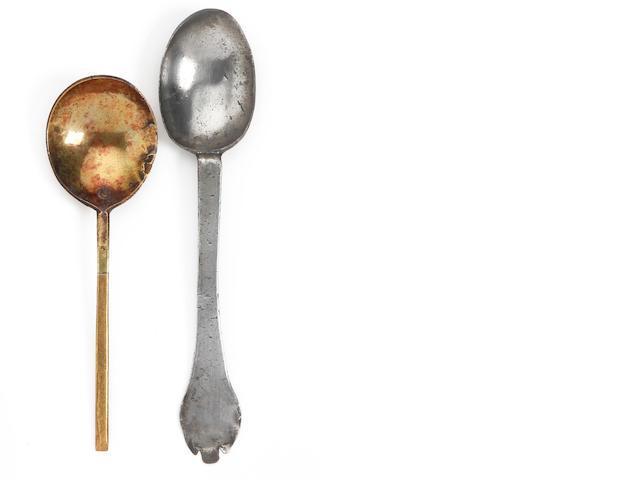 A trifid spoon, circa 1700