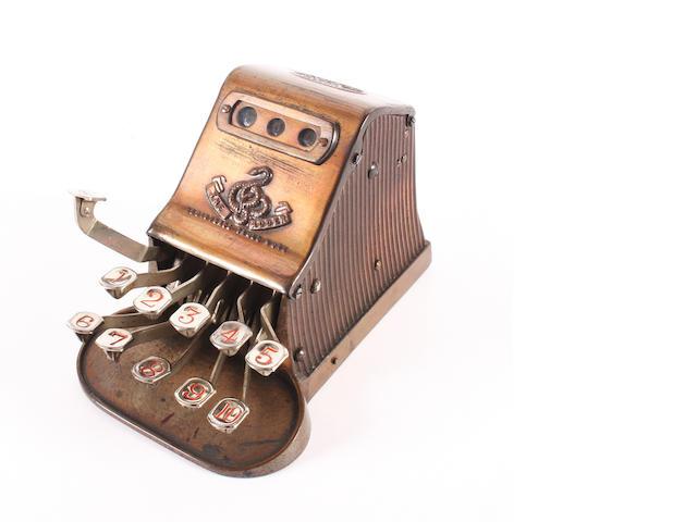 A good Adder 'keyboard' calculation machine, circa 1903,