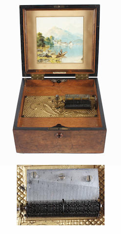 A Kalliope 9.1/8-inch disc musical box, circa 1900,