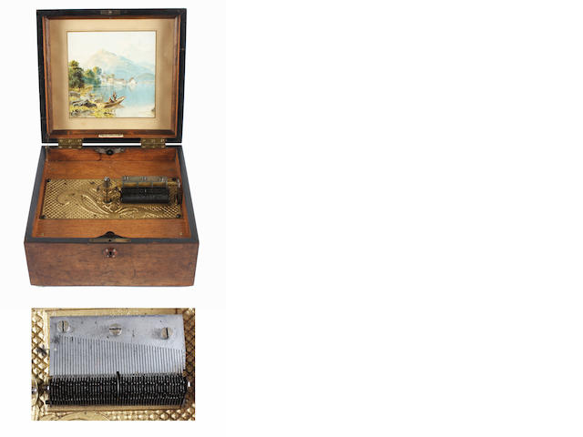 A Kalliope 9.1/8-inch disc musical box, circa 1900,