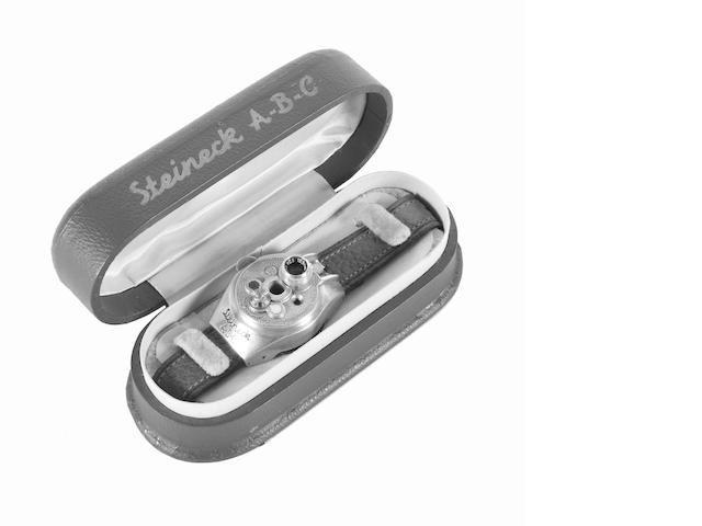 Steineck ABC wristwatch camera in presentation case