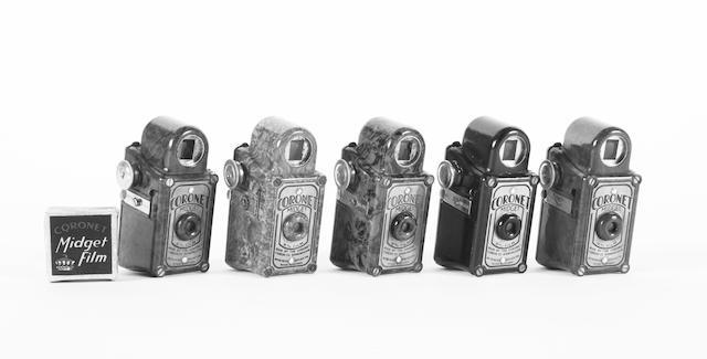 Coronet Midget bakelite cameras