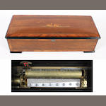A ten air cylinder musical box, circa 1885,