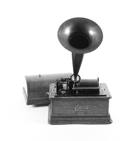 An Edison Standard Phonograph, circa 1906,