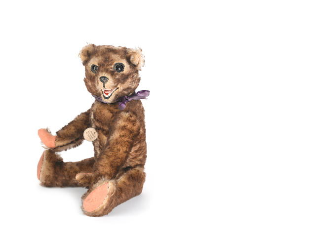 Brown tipped mohair 'Peter' Teddy bear, German circa 1925