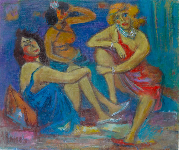 Marcel Janco (Romanian/Israeli, 1895-1984) The three graces