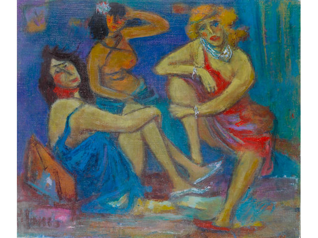 Marcel Janco (Romanian/Israeli, 1895-1984) The three graces