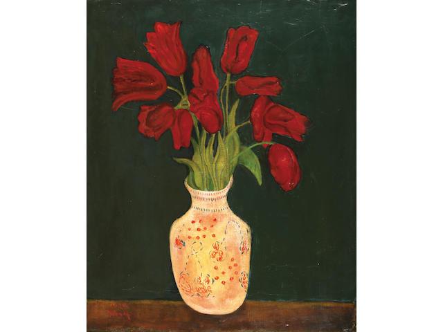 Moshe Mokady (Israeli, 1902-1975) Tulips, 1920