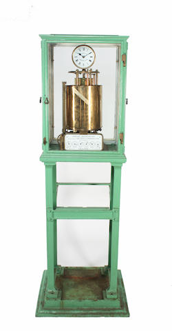 A 'Venturi' brass water meter by Geo. Kent Ltd. London & Luton,