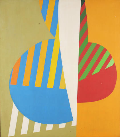 "Rory McEwen (British, 1932-1982) ""Agreement to differ"" 203 x 178cm."
