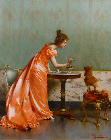 Vittorio Reggianini (Italian, 1858-1939) The unconditional lover