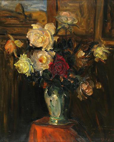 Ludwig Blum (Israeli, 1891-1975) Vase of flowers, 1931