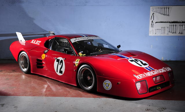 The Ex-North American Racing Team - Alain Cudini/John Morton/John Paul/Philippe Gurdjian,1981-82 Ferrari 512 BB/LM Berlinetta Le Mans 24-Hours Competition Coupe  Chassis no. 35527 Engine no. Type F102 B no. 000023 (original)- Type F110A no. 00682 (installed)