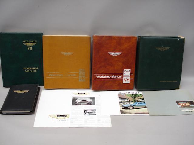 A lot of Aston Martin V8 technical literature,