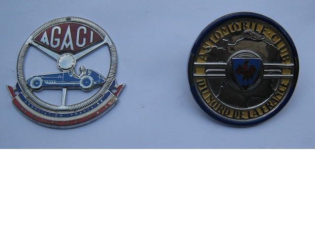 Two motoring badges, French,