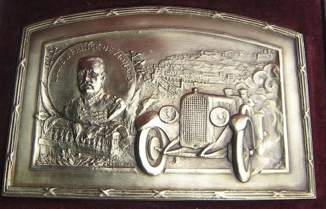 A fine bronze Monaco plaque by Ch. Vallet of Paris,