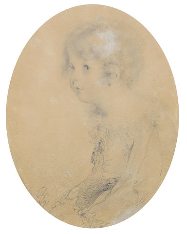 Sir Thomas Lawrence, PRA (British, 1769-1830) Study of a young boy