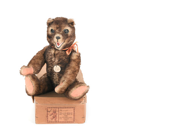 Rare boxed 'Peter' Teddy bear, German circa 1925