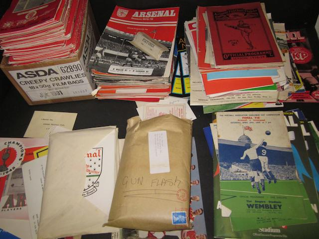 A large collection of programmes associated to Joe Mercer