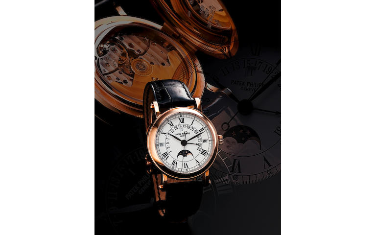 Patek Philippe. A very fine 18ct rose gold automatic perpetual calendar wristwatch with retrograde dateRef: 5059R, Case No. 4274165, Circa 2000s