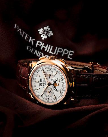 Patek Philippe. A very fine 18ct gold manual wind perpetual calendar wristwatch with chronographPerpetual Calendar Chronograph, Ref. 5970J, Circa 2009