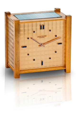 Patek Philippe. A fine and rare brass solar desk clock  Ref: 921, Case no. 1180, Circa 1968