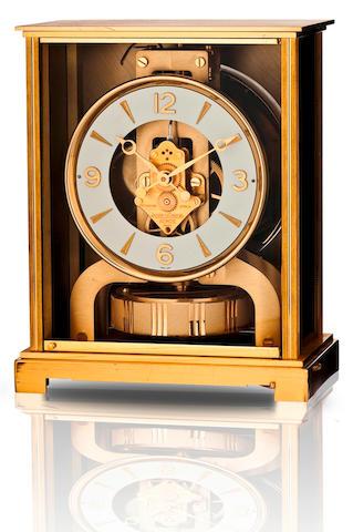 Jaeger LeCoultre. A fine brass desk clock Atmos, Circa 1970s