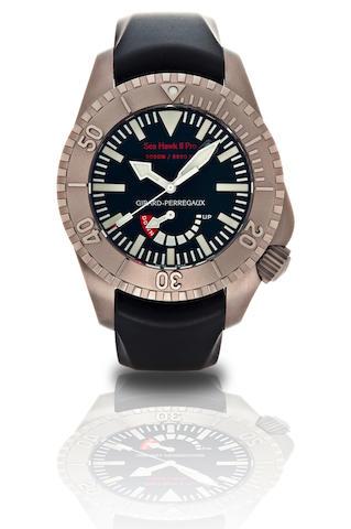Girard-Perregaux. A fine titanium divers automatic wristwatch with power reserve and calendarSea Hawk II Pro, Ref:49940, Case No.789, Circa 2009