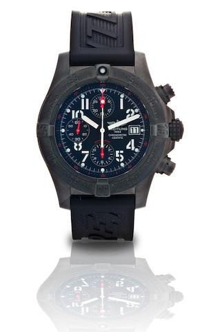 Breitling.  A fine blacksteel limited edition automatic chronograph with calendar wristwatch Skyland Blacksteel, Ref. M13380, Case No. 1286/2000, Circa 2008