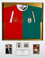 1973/74 to 2006/07 Professional Footballers Association Footballer of the Year individual hand signed shirts For Club and Country