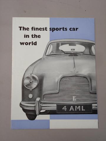 An Aston Martin DB2-4 sales brochure,