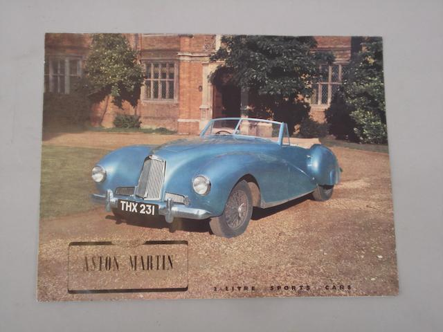 An Aston Martin 2 litre sales brochure,