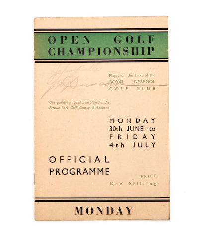 A 1947 Open Golf Championship (Royal Liverpool) programme
