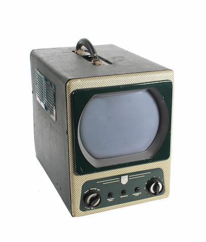 An Ekco type TMB 272 portable television circa 1955,