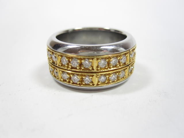 A puzzle ring with assay report