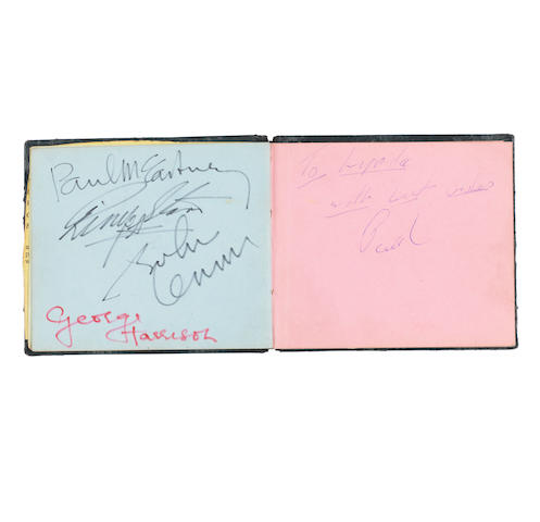 An autograph book containing a good set of Beatles autographs, 1963,