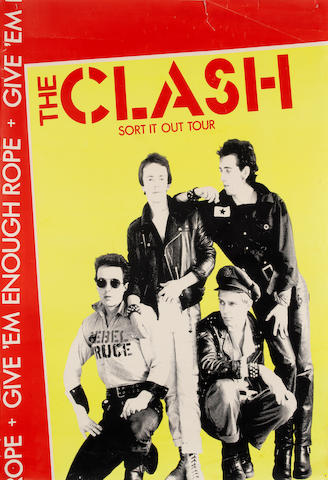 The Clash: Give 'Em Enough Rope tour poster