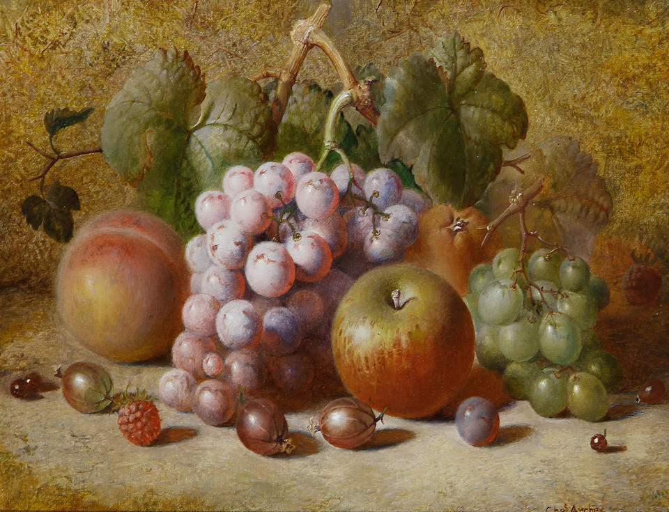 Charles Archer (British, 1855-1931) Still lifes of fruit each 26 x 36cm (10 1/4 x 14 3/16in).