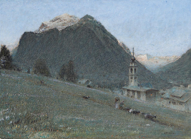 Albert Goodwin, RWS (British, 1845-1932) 'The afterglow, Pontresina'