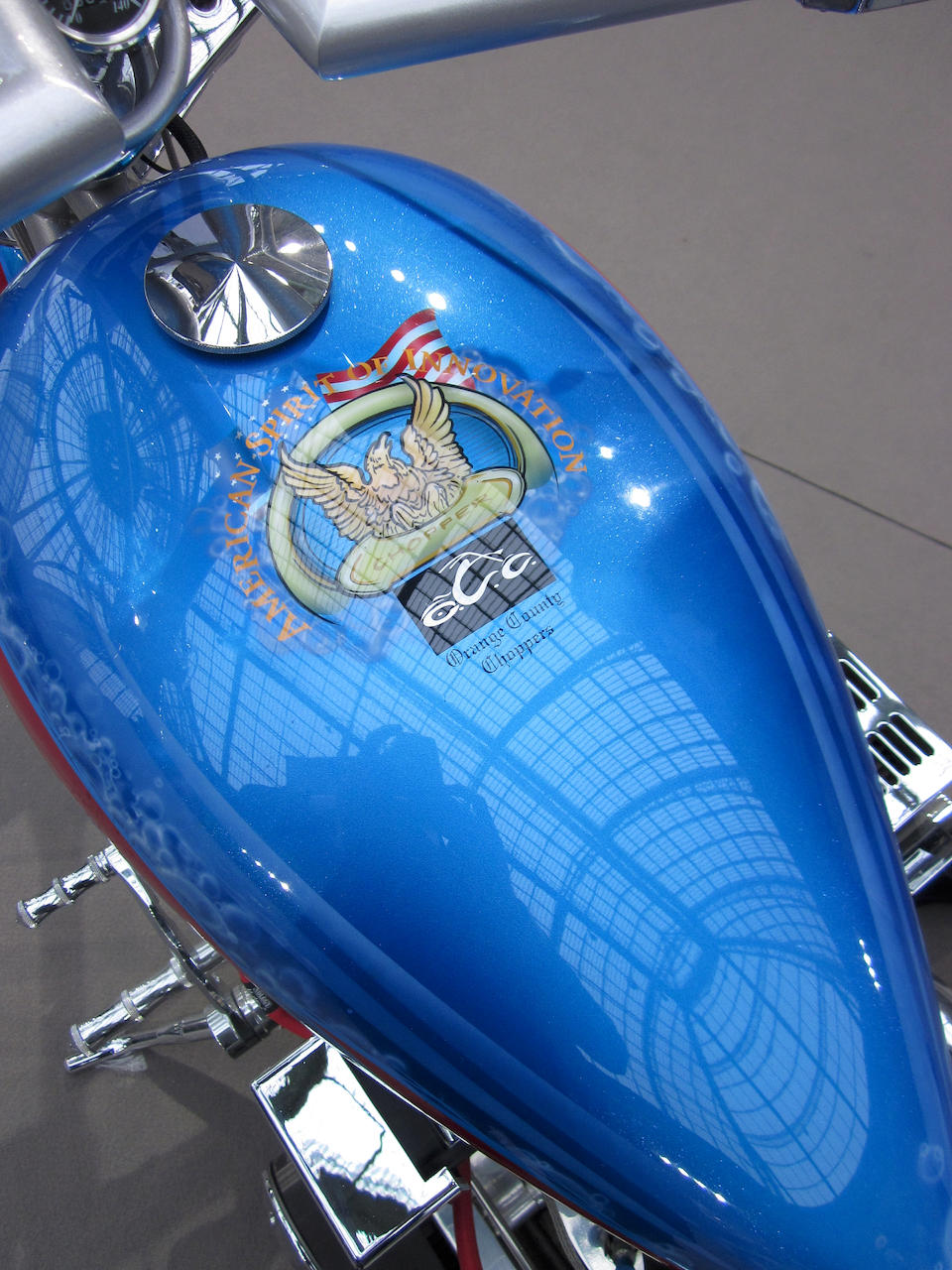 Only 79 miles (approximately 127 kilometres) from new 2005 Orange County Chopper 'American Spirit of Invention', Frame no. SW92702R1STOC1534 Engine no. FC00722