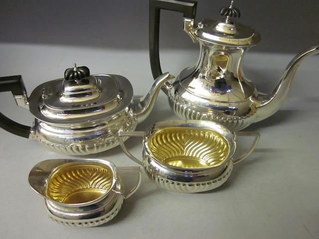 A four piece tea service, Birmingham 1927/28