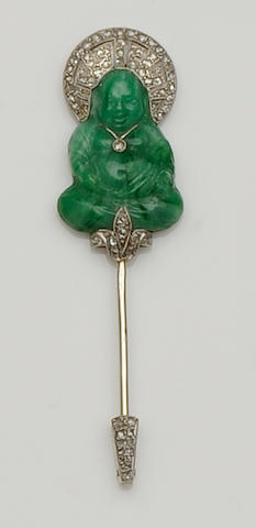 An early 20th century French jabot pin, by Lacloche Freres