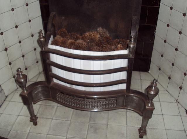 A George III style steel fire grate