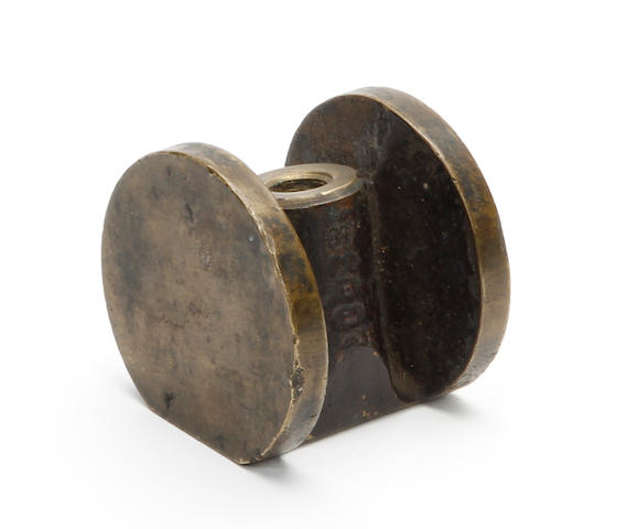 A John Kenneth Garner billiard-style gun metal putter head circa 1904