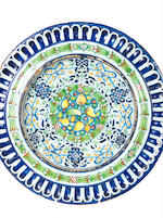 A rare and large Montelupo, Trident Workshop, maiolica charger, circa 1525-30