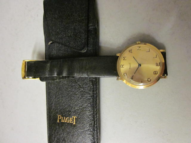 An 18 carat gold gentleman's Piaget strap watch,