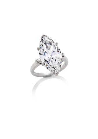 A diamond single-stone ring, by Bulgari